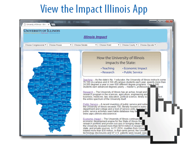 View the Illinois Impact app